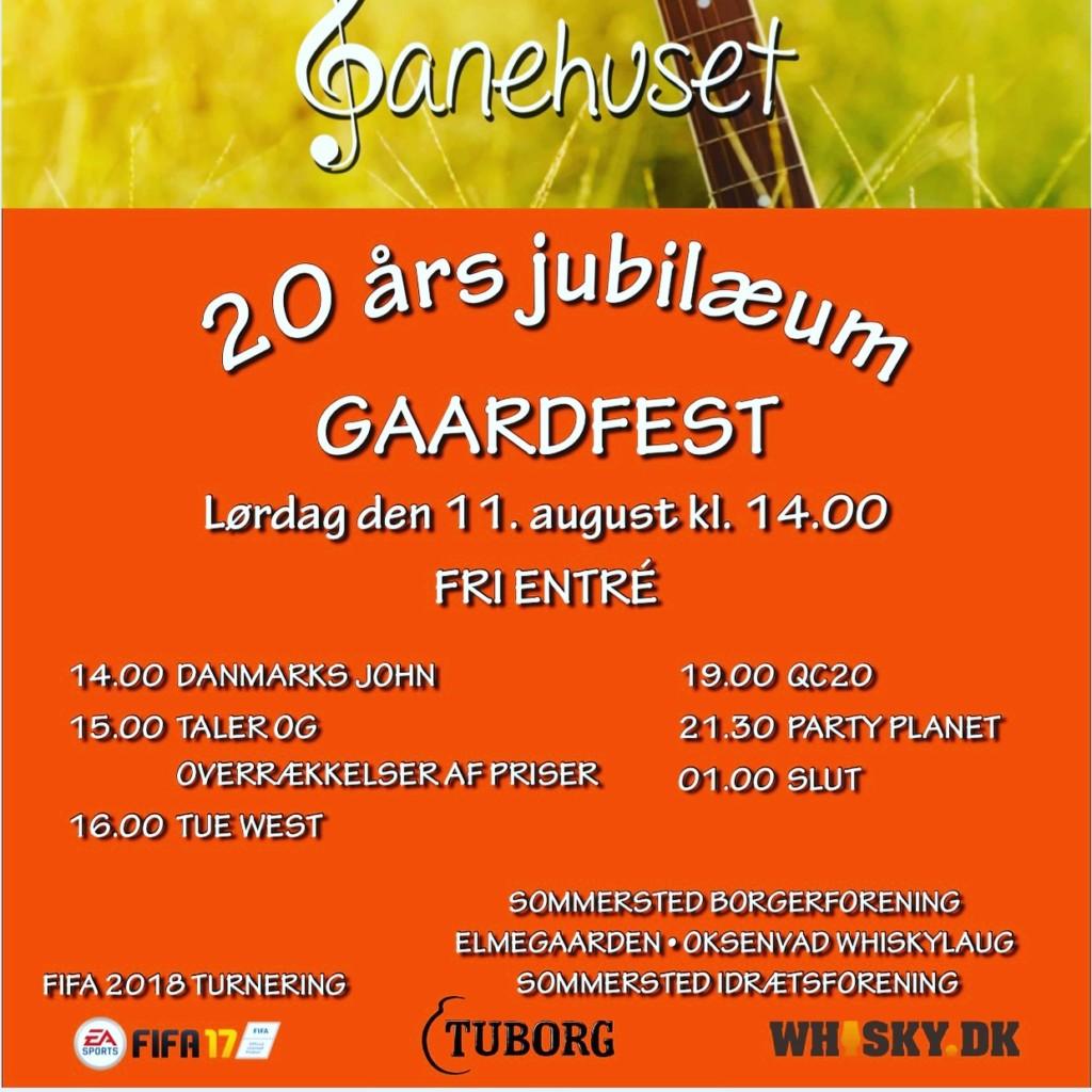 Banehusets 20års jubilæum & Gaardfest 2018